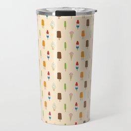 Ice Cream Pattern, Popsicles, Bomb Pops, Cones Travel Mug