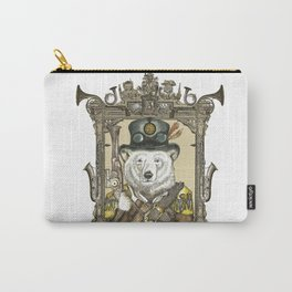 Polarbear Warden with Steampunk Frame Carry-All Pouch