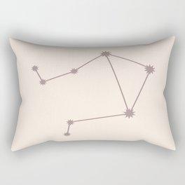 Libra Zodiac Constellation Neutral Rose Rectangular Pillow