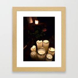 melting candles Framed Art Print