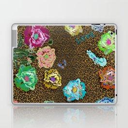 Leopard love flowers Laptop & iPad Skin