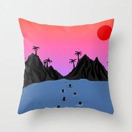 Swim Together Throw Pillow