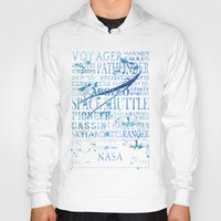 nasa Hoodies featuring NASA Solar System Missions by astrographix
