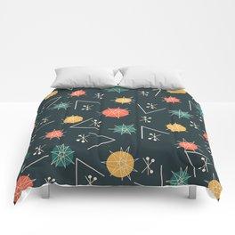 Mid Century Modern Sputnik Starburst Planets 5 Comforters