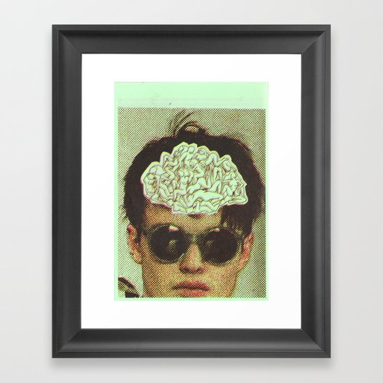 the human brain Framed Art Print