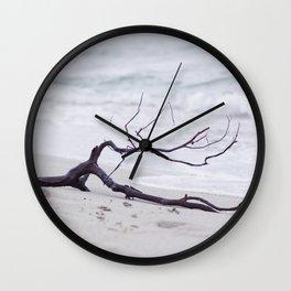 Flotsam on the sea Wall Clock