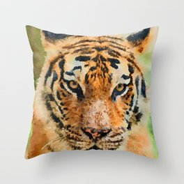 Tiger watercolor painting #1 Throw Pillow