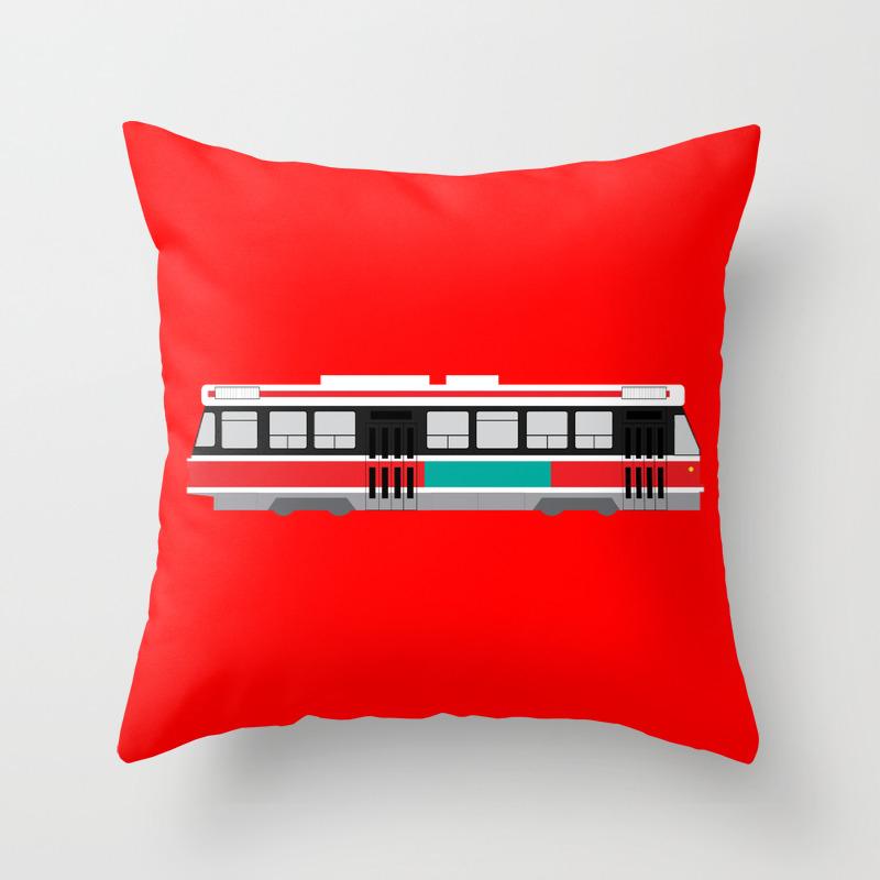 Toronto Ttc Streetcar Throw Pillow By Bambookoi Society6