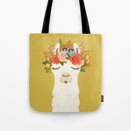 LLama Flowers Tote Bag
