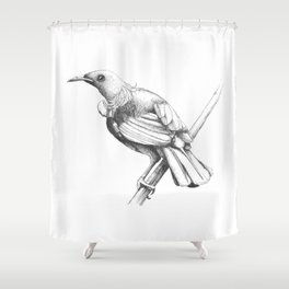 New Zealand Tui Shower Curtain