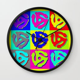 Pop Art Retro Vinyl Collector Wall Clock