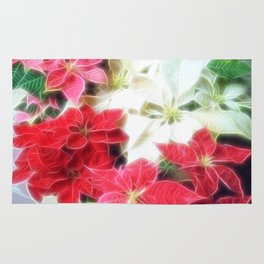 Mixed color Poinsettias 1 Angelic Rug