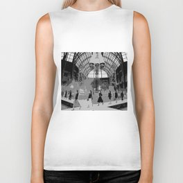 iconic runway industrial black and white Biker Tank