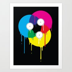 Melting Vinyl Art Print