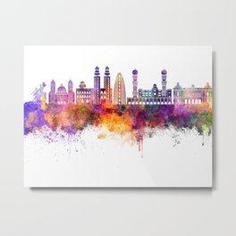 Dakar skyline in watercolor background Metal Print