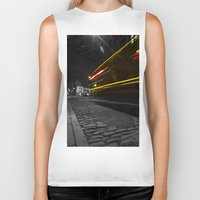 dumbo Biker Tanks featuring DUMBO Light trail by Juha Photography