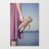 teddy bear Canvas Prints featuring Teddy by Maria Heyens
