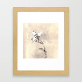 The thought Framed Art Print