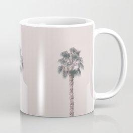 Tropical Palm Tree In Pastel Pink Light Coffee Mug