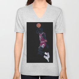 Air Jordan Basketball Payer Art Print and Poster Unisex V-Neck