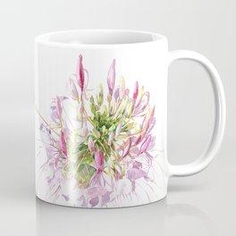 Cleome spinosa-flower watercolor Coffee Mug