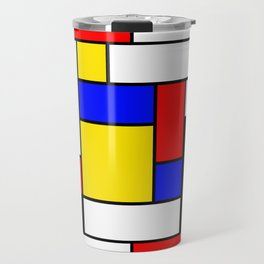 Mondrian Geometric Art 2 Travel Mug