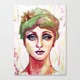 Steampunk Girl Canvas Print