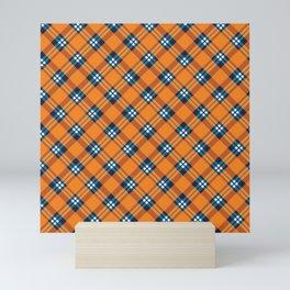 Orange Tartan Pattern Mini Art Print
