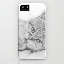 Relaxing Cat iPhone Case