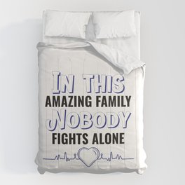 world cancer day commemorative with a loving quote Comforters