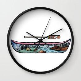 Scenic Canoe Wall Clock