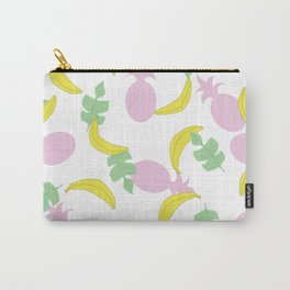 Tropical Pattern // Yellow Pink Green Palette Carry-All Pouch