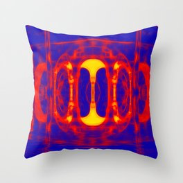 Fiery portal of our nightmares Throw Pillow