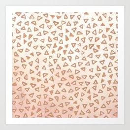 Rose Gold Triangles Art Print