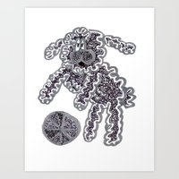 Bichon and Ball Art Print