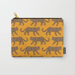 Kitty Parade - Classic Camel on Tangerine Carry-All Pouch