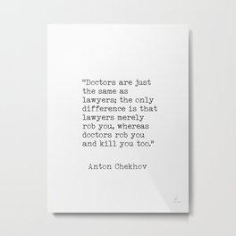 Anton Chekhov quote Metal Print