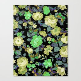 july roses & butterflies Canvas Print
