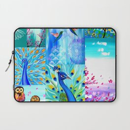 Aqua collage Laptop Sleeve