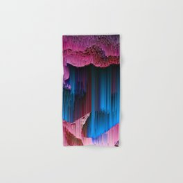 Cotton Candy - Abstract Glitchy Pixel ARt Hand & Bath Towel