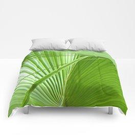 Palm Leaves // Tropical Wall Art, Beach Cottage Decor, Coastal Art Comforters