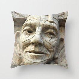 The clown at the park Throw Pillow
