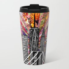 Linocut New York Blooming Travel Mug