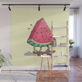 Watermelon Slice Skater Wall Mural