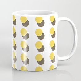 Yellow Dot Spot Geometric Coffee Mug