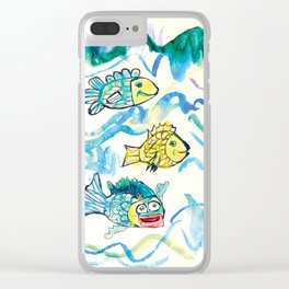 Funny fishes Clear iPhone Case