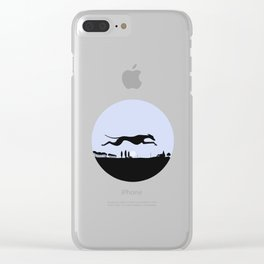 Whippet Dawn Clear iPhone Case