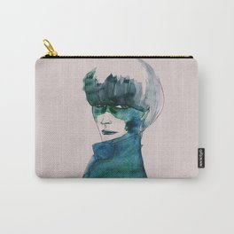 Blue-Green Skin Carry-All Pouch