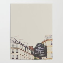 Place Sartre Beauvoir Poster