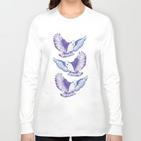 wings Long Sleeve T-shirts featuring Wings by Prints by Kellie